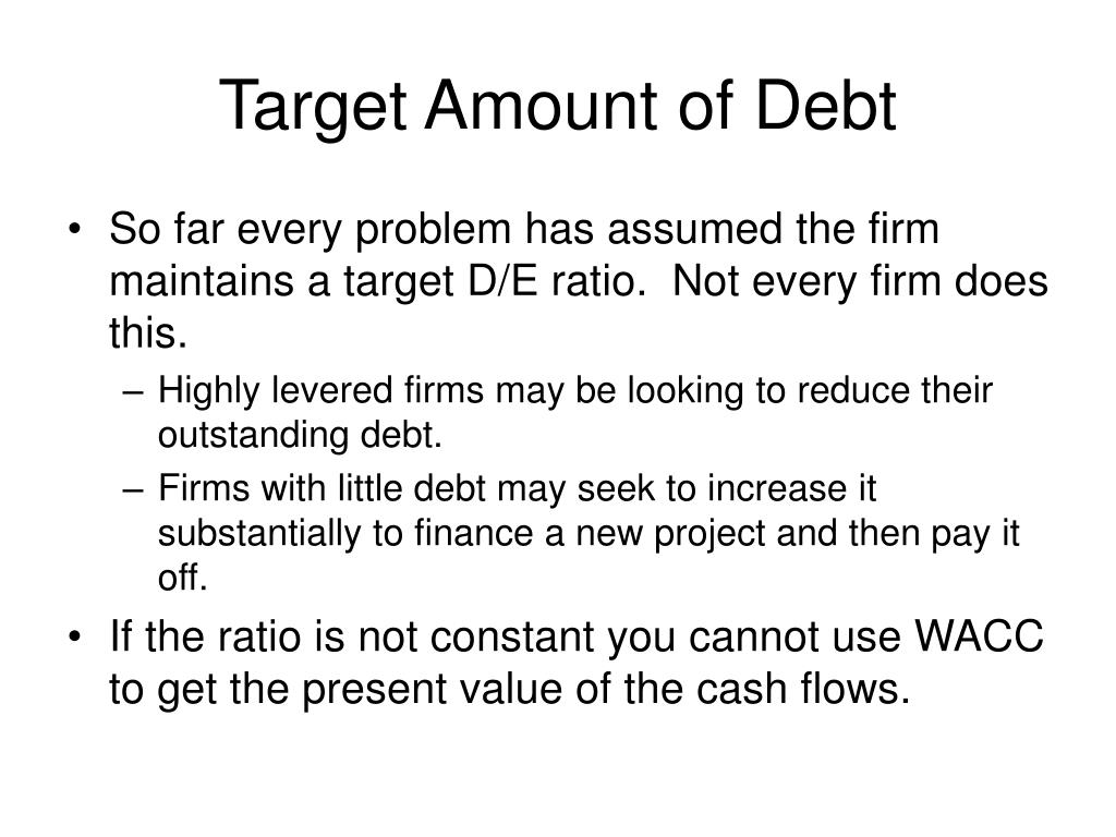 Target Amount of Debt