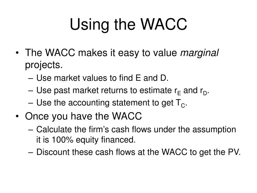 Using the WACC