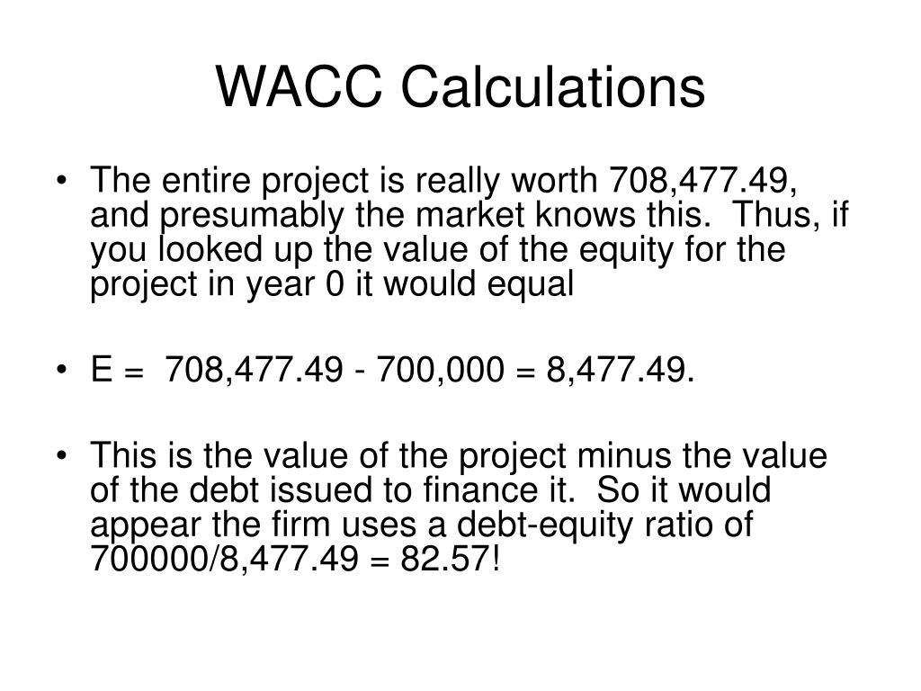 WACC Calculations