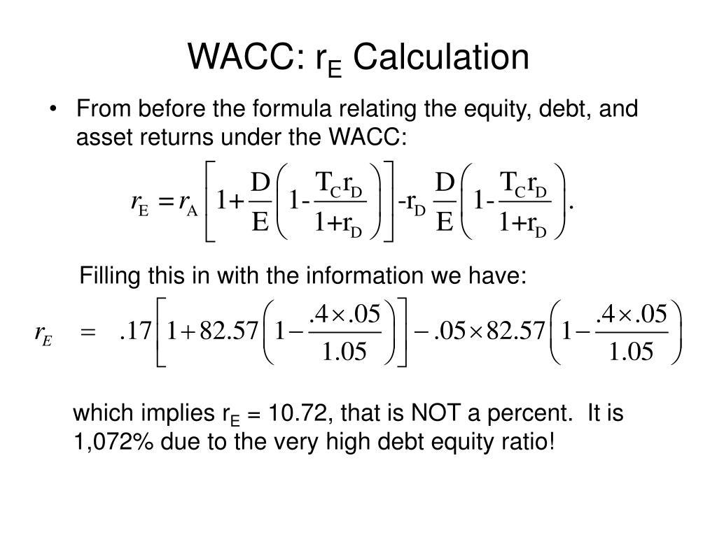 WACC: r