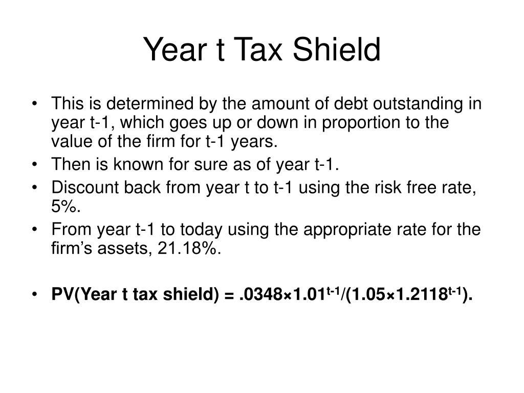 Year t Tax Shield