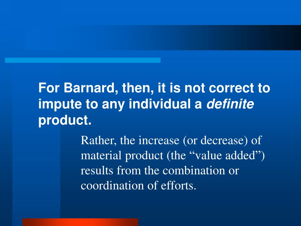 For Barnard, then, it is not correct to impute to any individual a