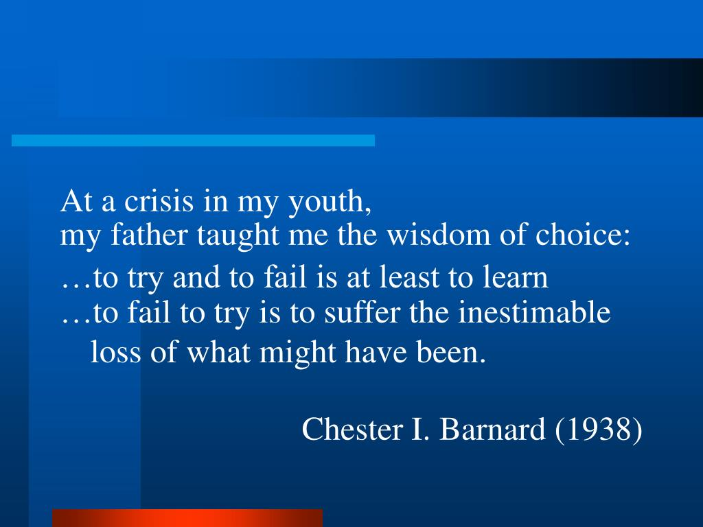 At a crisis in my youth,