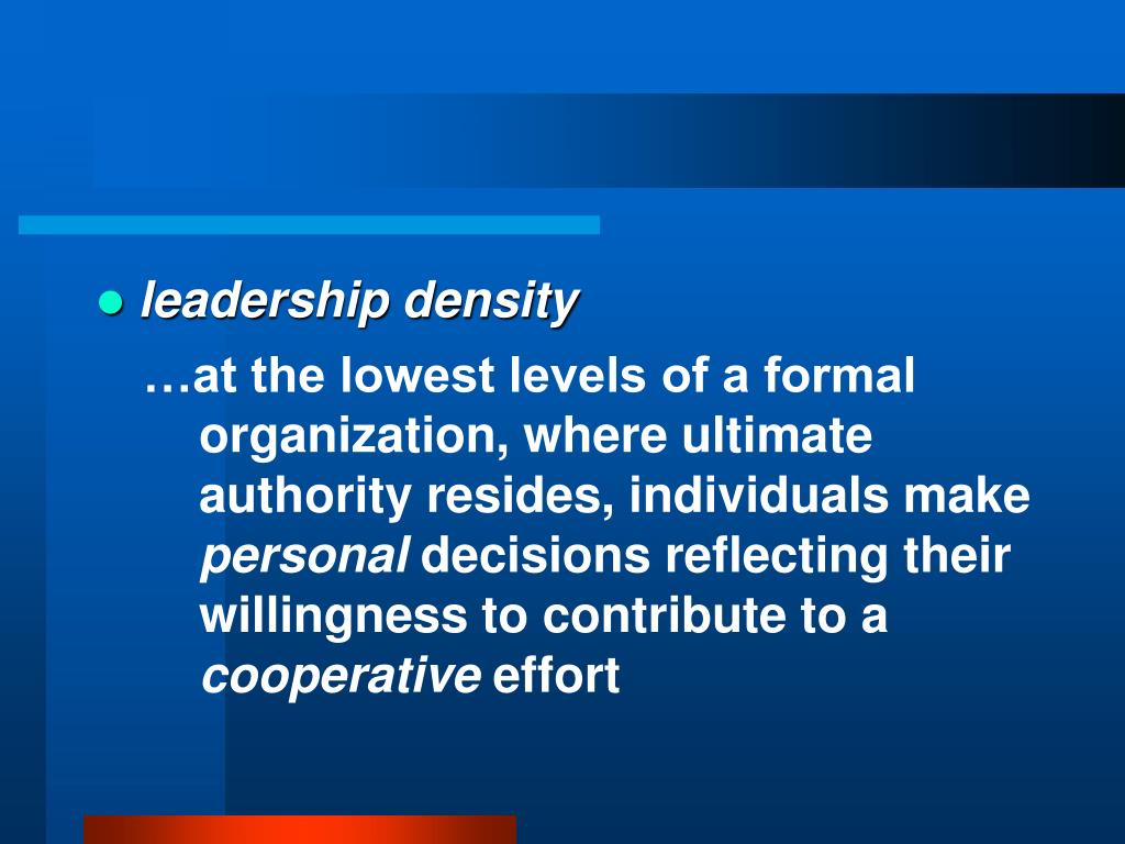 leadership density