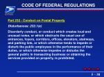 code of federal regulations38