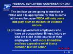 federal employees compensation act
