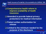 health insurance portability accountability act hipaa 1996