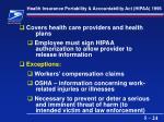 health insurance portability accountability act hipaa 199624