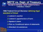 metz vs dept of treasury