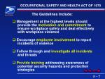 occupational safety and health act of 19707