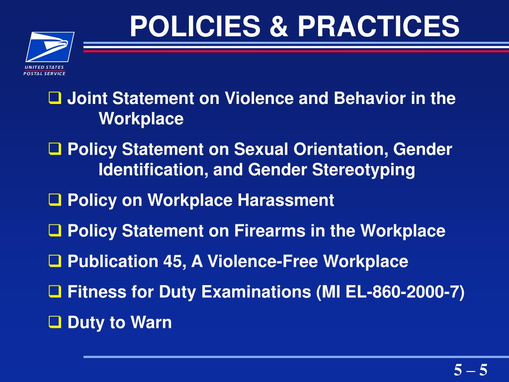 POLICIES & PRACTICES