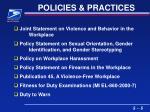 policies practices