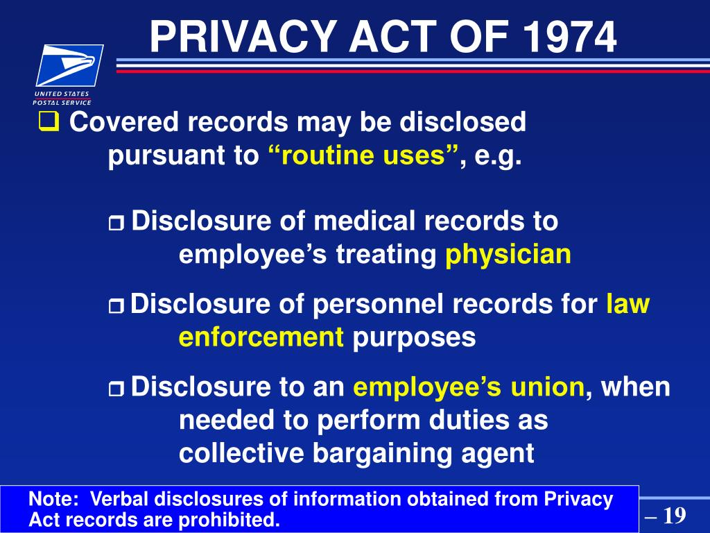 Note:  Verbal disclosures of information obtained from Privacy