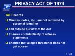 privacy act of 197420