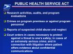 public health service act22