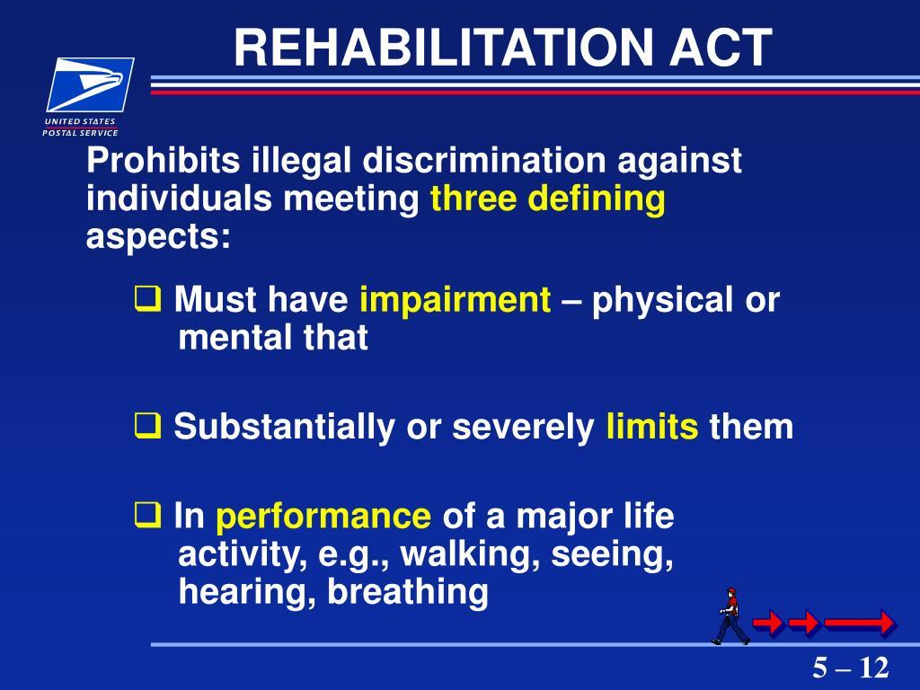 REHABILITATION ACT