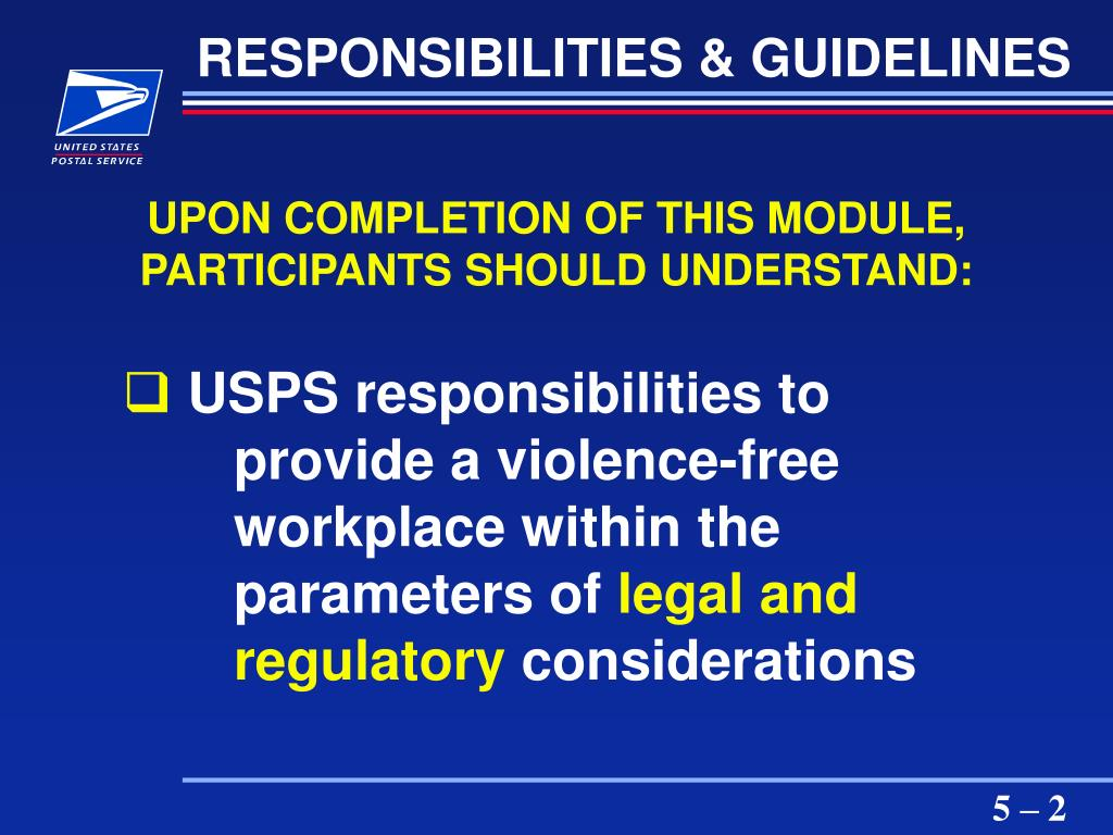 RESPONSIBILITIES & GUIDELINES