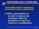 responsibilities guidelines