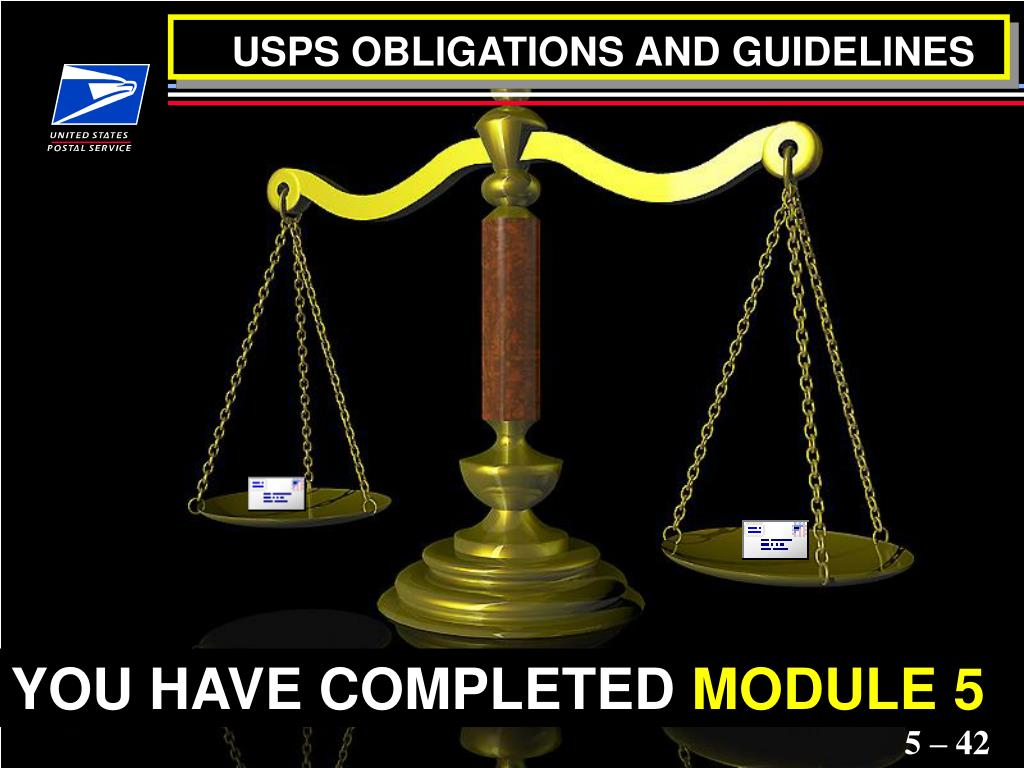 USPS OBLIGATIONS AND GUIDELINES