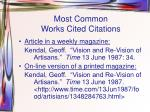 most common works cited citations2