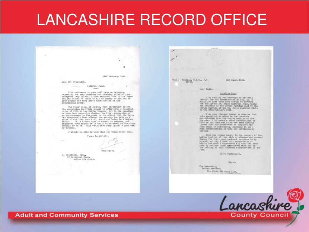 LANCASHIRE RECORD OFFICE