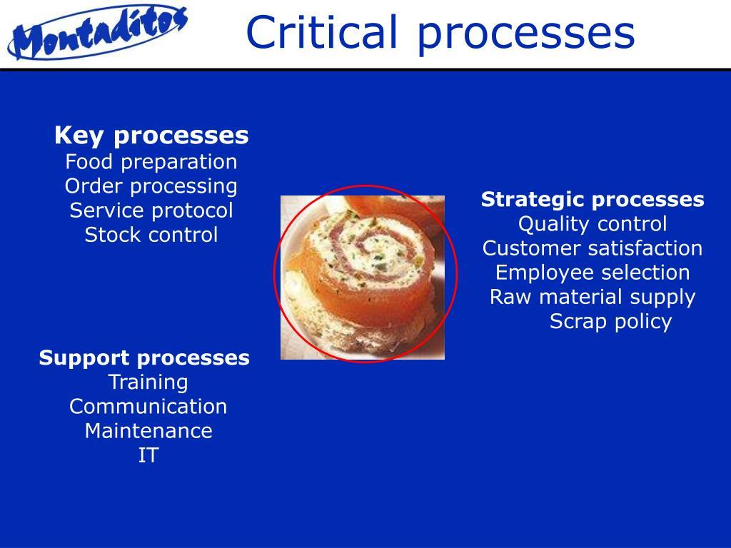 Critical processes