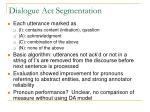 dialogue act segmentation14