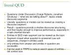 literal qud