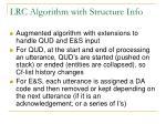 lrc algorithm with structure info