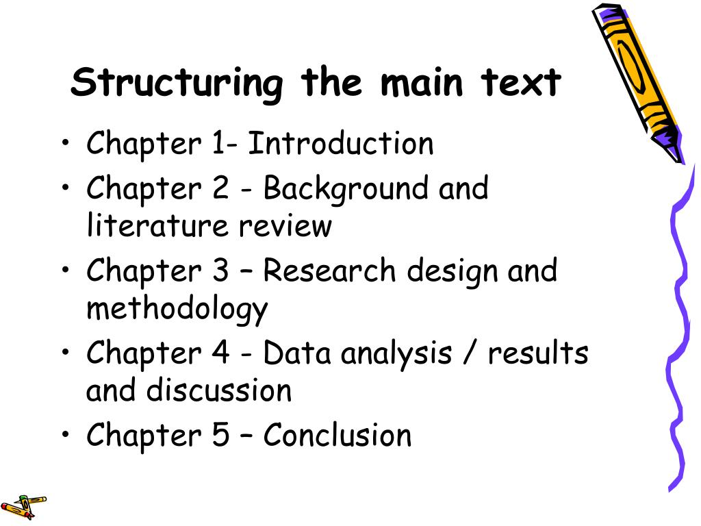 Structuring the main text
