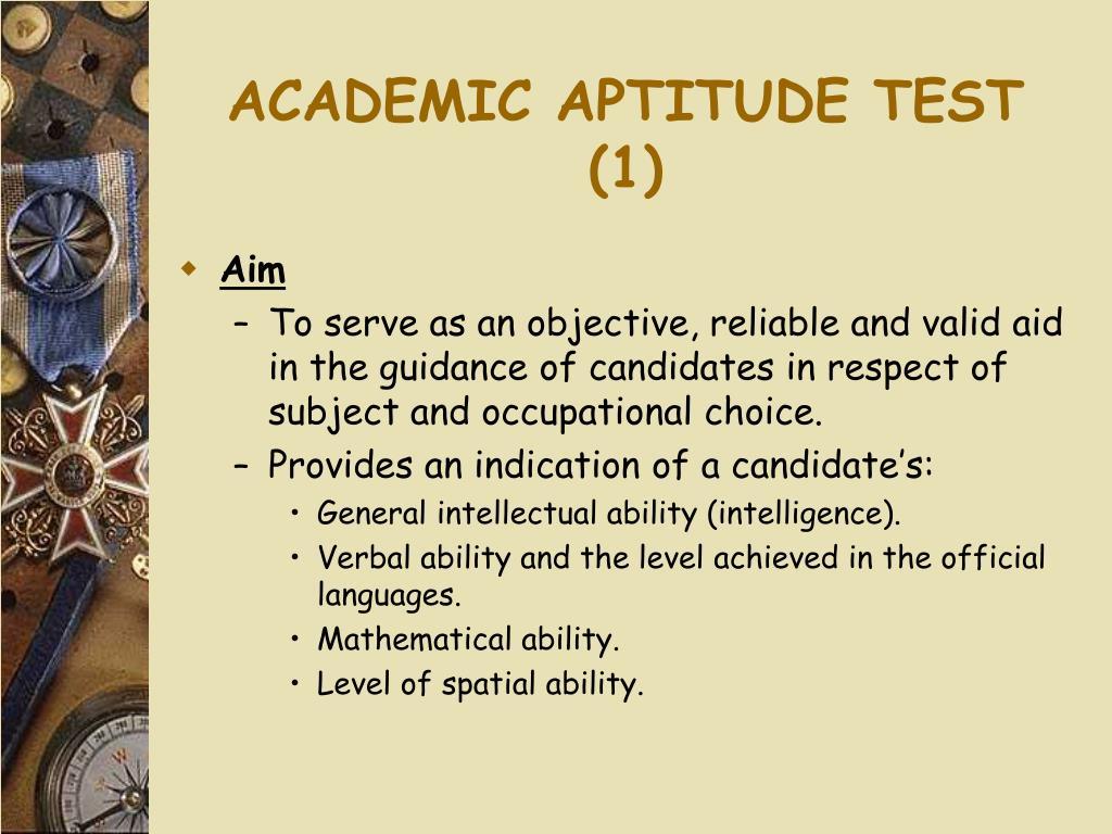 ACADEMIC APTITUDE TEST (1)