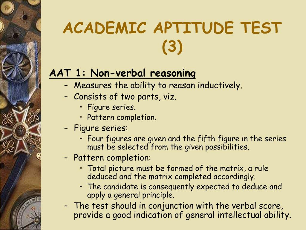 ACADEMIC APTITUDE TEST (3)