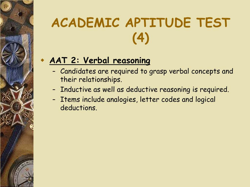 ACADEMIC APTITUDE TEST (4)