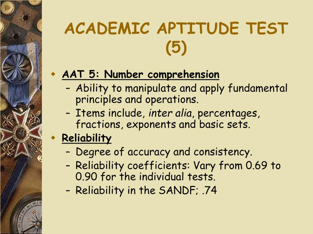 ACADEMIC APTITUDE TEST (5)