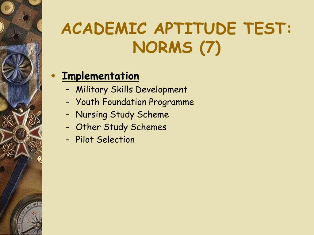 ACADEMIC APTITUDE TEST:
