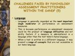 challenges faced by psychology assessment practitioners within the sandf 5