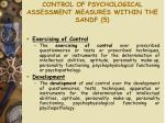 control of psychological assessment measures within the sandf 5