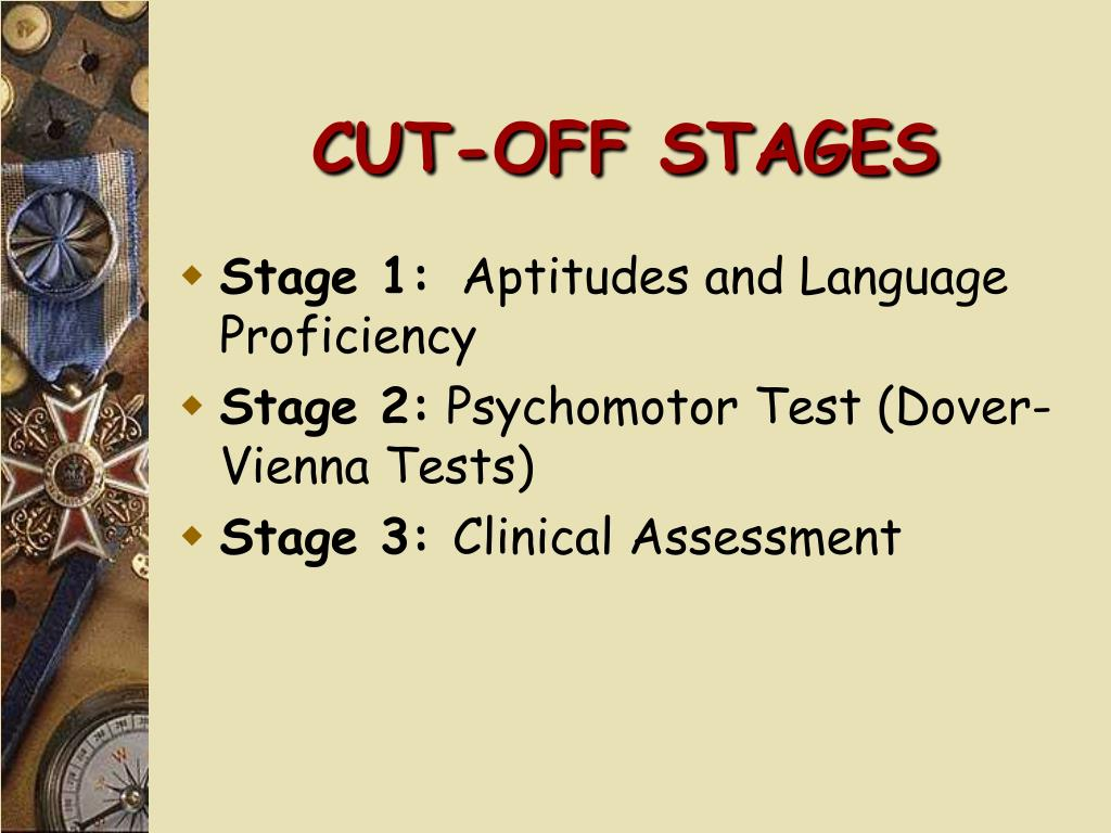 CUT-OFF STAGES