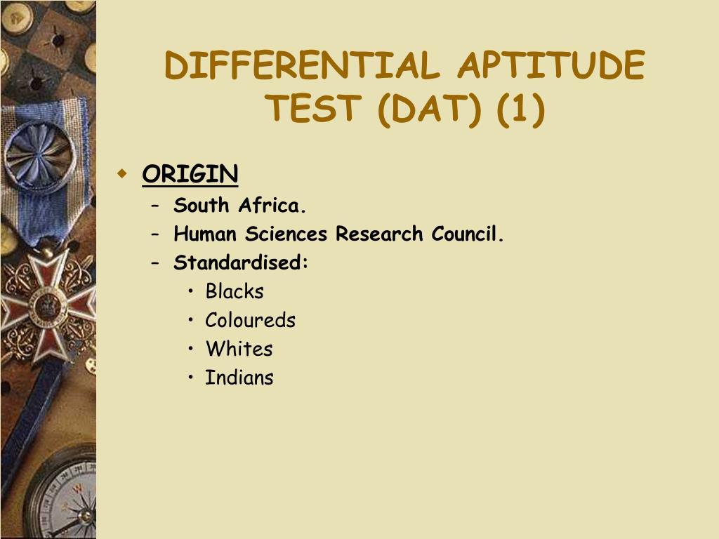 DIFFERENTIAL APTITUDE TEST (DAT) (1)