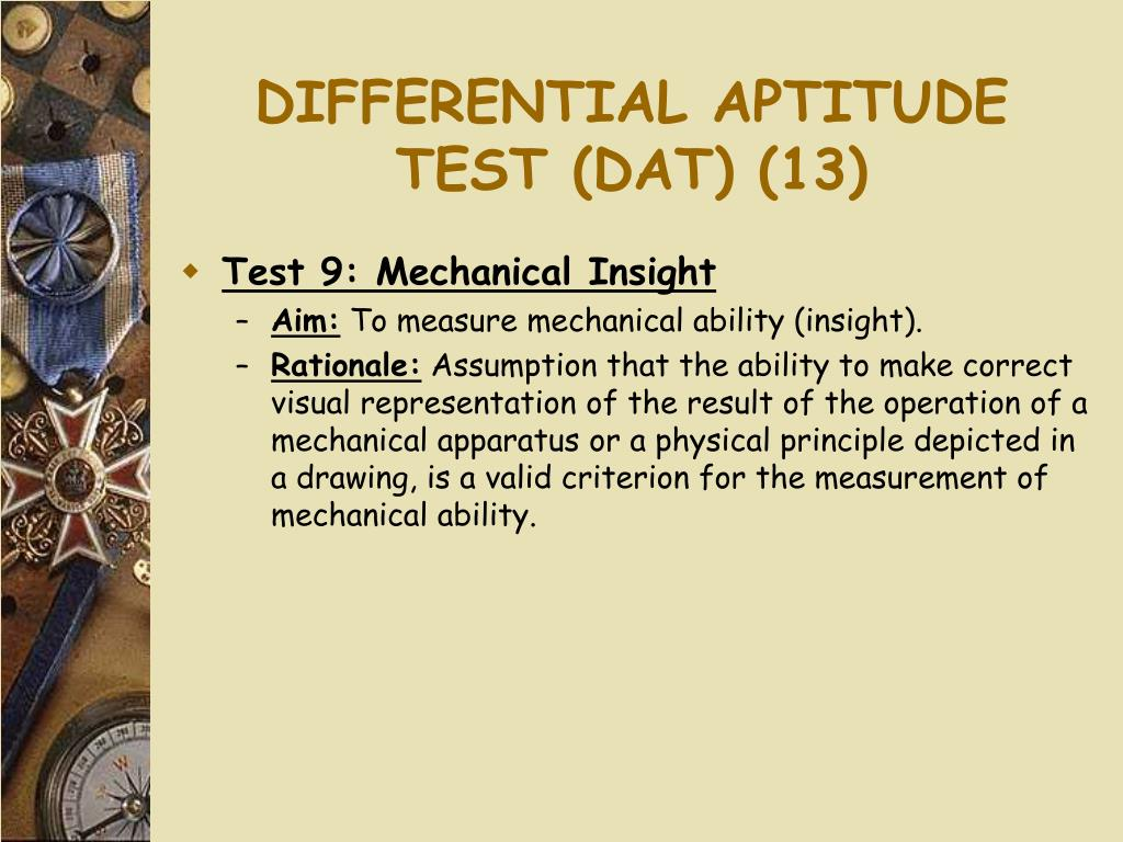 DIFFERENTIAL APTITUDE TEST (DAT) (13)