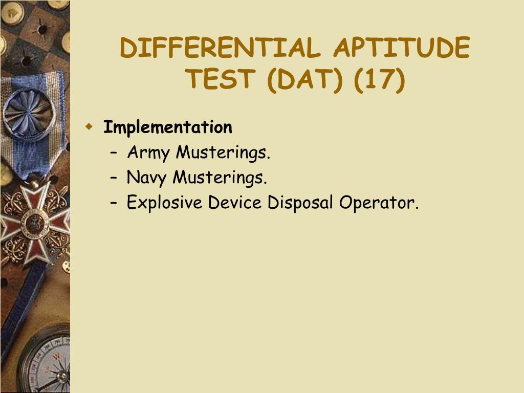 DIFFERENTIAL APTITUDE TEST (DAT) (17)