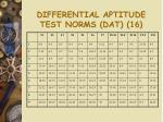 differential aptitude test norms dat 16