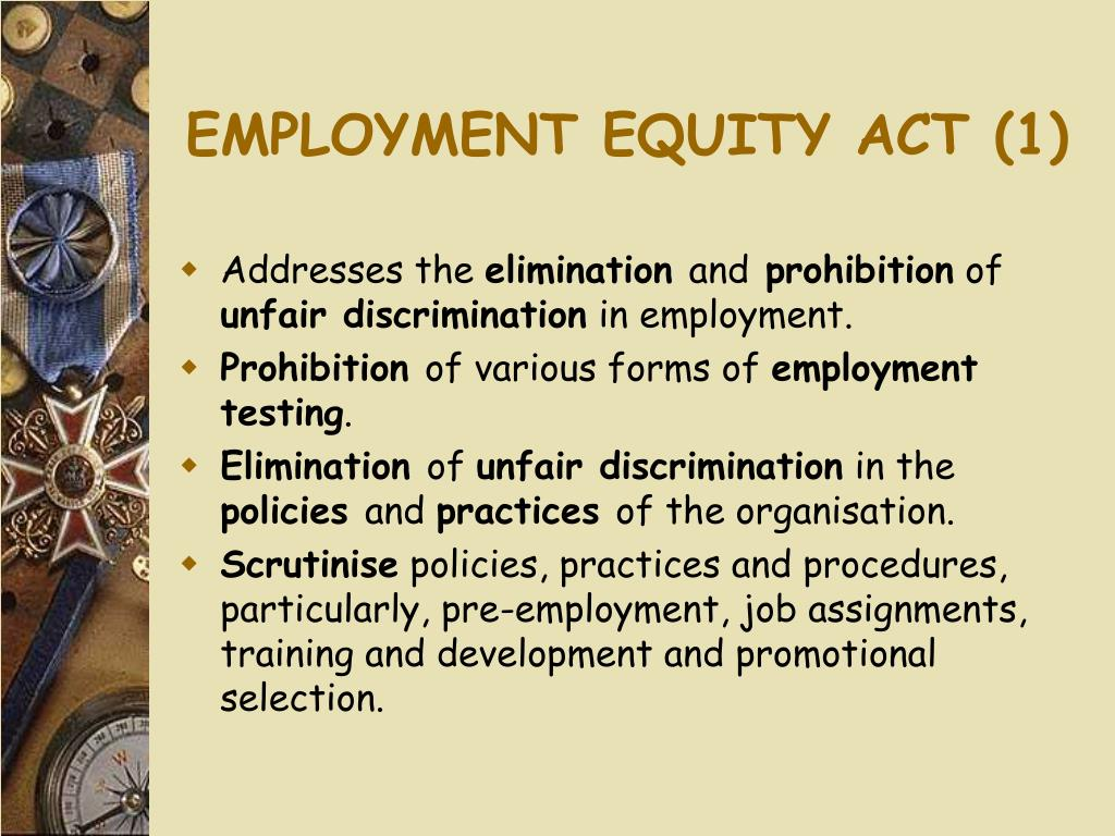 EMPLOYMENT EQUITY ACT (1)