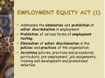 employment equity act 1