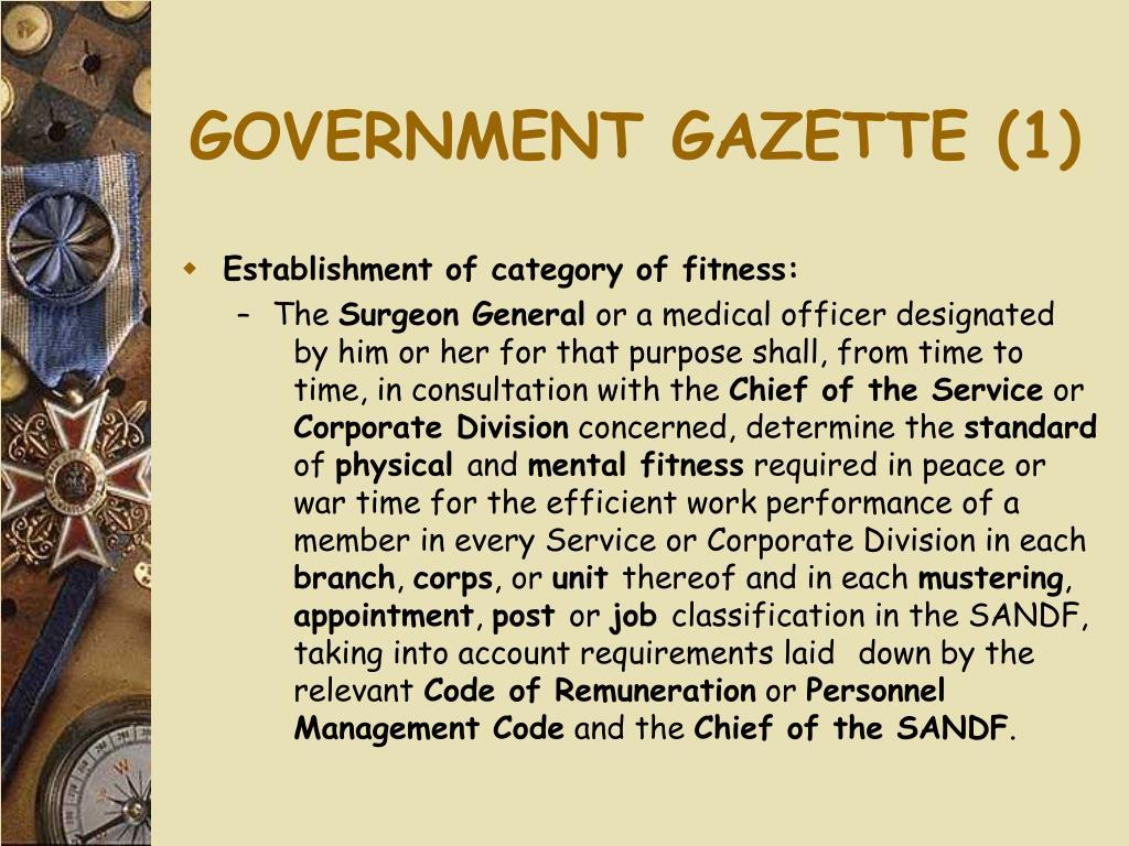 GOVERNMENT GAZETTE (1)