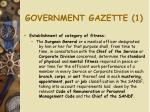 government gazette 1