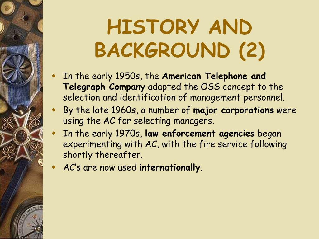 HISTORY AND BACKGROUND (2)