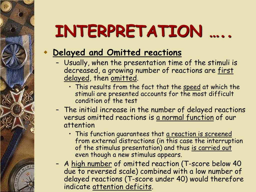 INTERPRETATION …..