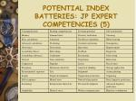 potential index batteries jp expert competencies 5
