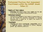 professional practices that assessment practitioners within the sandf should follow 1